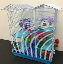 NEW 5 Floor Large Twin Tower Hamster Habitat Rodent Gerbil M