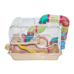 Light Brown Hamster Cage, 45x30x33cm, Case of 1