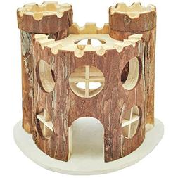 Niteangel Natural Living Wooden Castle, Small Animal Playgro