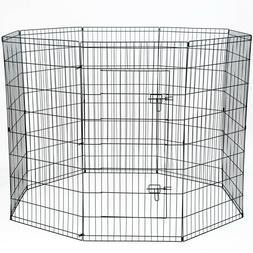 Paws & Pals 8-Panel Folding Wire Exercise Pen with Door for