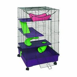 "Kaytee Multi-Level Habitat w/Removable Casters, 24"" x 24"" x"
