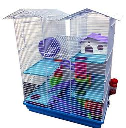 5-Floors Large Twin Tower Hamsters Habitat Rodent Gerbil Mou