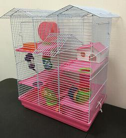 5-Floor Large Twin Towers Hamster Habitat Rodent Gerbil Mous
