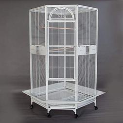 Cages New White,Flyline Corner Bird for Cockatiel Parakeet B