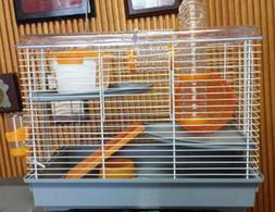 ORANGE HAMSTER CAGE PINO #20107011- 2 LEVEL CAGE WITH TUBES