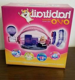 Habitrail Ovo Home Pink Hamster Cage Habitat w/Water Bottle