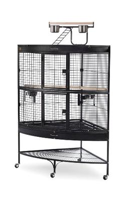 Prevue Pet Products Large Corner Bird Cage 3158BLK Black 45-