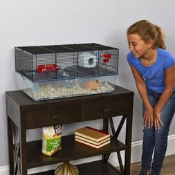 Pet Hamster Animal Cage | Includes Free Water Bottle Exercis