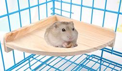 Fashionclubs Pet Hamster Wood Cage Perch For Gerbil Rat Chin