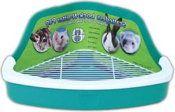 pet litter plastic pan rabbit hamster scatterless