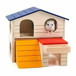 BWOGUE Pet Small Animal Hideout Hamster House Deluxe Two Lay