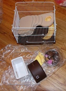Petzilla Hamster Travel Cage, Portable Carrier for Small Ani
