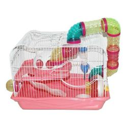 Pink Hamster Cage, 45x30x33cm, Case of 1