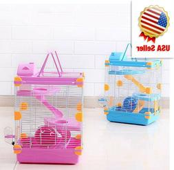 Pink palace hamster cage,Hamster Cage Skylight for Small Ham