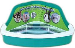 Plastic Scatterless Lock-N-Litter Small Pet Pan- Colors May