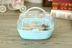 Portable Carrier Hamster Carry Case Cage with Water Bottle T