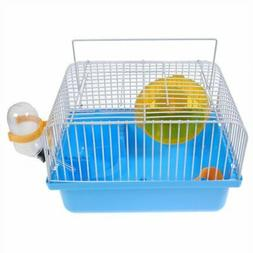 Shop4Omni Portable Traveler Hamster Cage with Wheel - Blue