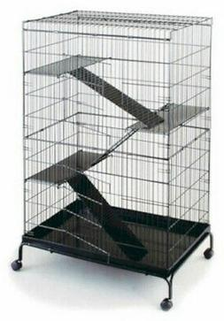 "Prevue Jumbo Ferret Small Animal Cage 48""H with 3 Ramps, Pla"