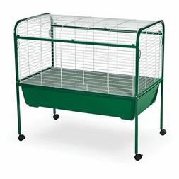 Prevue Pet Jumbo Small Pet Cage on Stand - White/Green