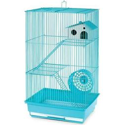 "Prevue Three-Story Hamster Gerbil Cage 22""H w/ Exercise Whee"