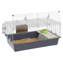 Ferplast Rabbit 100 Rabbit Habitat Cage, Safety Closing Syst
