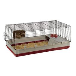 Ferplast Rabbit Cage, Burgundy