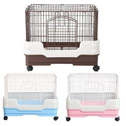 Homey Pet Rabbit Chinchilla Hamster Rat Ferret Cage with Pul