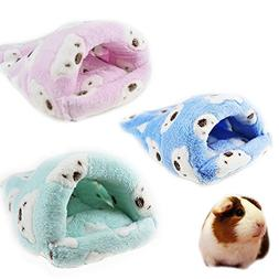 FLAdorepet Rat Hamster House Bed Winter Warm Fleece Small Pe
