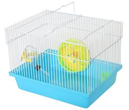 YML Single Story Dwarf Hamster Cage with Small Wheel/Dish an