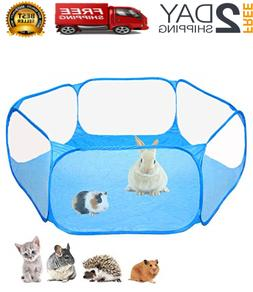 Small Animals Cage Tent Guinea Pig Rabbits Hamster Pet Playp