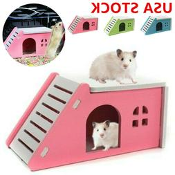 US Pet Small Animal Castle Hamster House Bed Cage Nest Guine