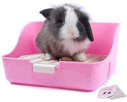 Mkono Rabbit Cage Litter Box Potty Trainer for Adult Guinea
