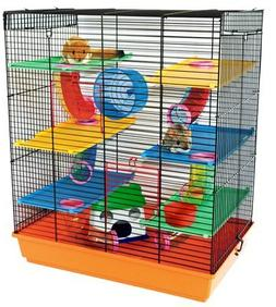 CRITTER XL Toby Deluxe 6 Platforms and Tubes Hamster Cage 70
