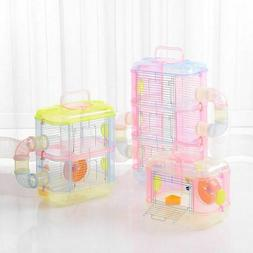 Transparent  Hamster Multi Layer Small Pet Cages  Supplies T
