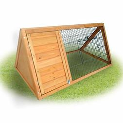 "PawHut 46"" x 24"" Wooden Portable A-Frame Outdoor Rabbit Cage"