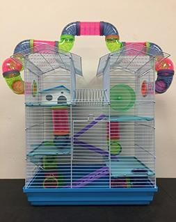 New Large Twin Towner Habitat Hamster Rodent Gerbils Mouse M