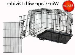 Homey Pet Wire Folding Portable Dog Cage with Ultra-Strong P