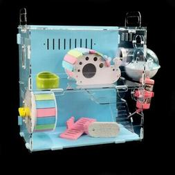Wooden Hamster House Pet Colorful Small Animal Cage Exercise