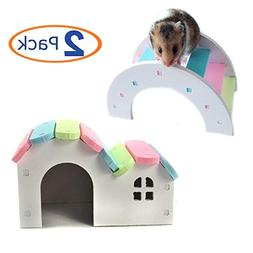 Wooden Hamster House Rat Mouse Exercise Natural Funny Hamste