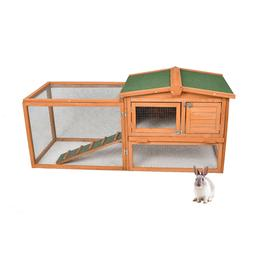 Wooden Outdoor Chicken Coop Hutch PET House Rabbit Cage Larg