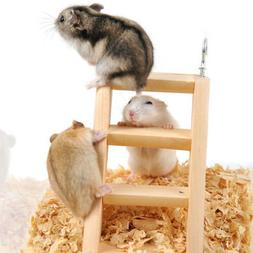 Wooden Pets Ladder Cage Toy Accessories Pet Hamster Bird Mou