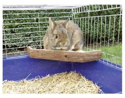 Niteangel Natural Wooden Platform for Rabbits, Chinchilla an